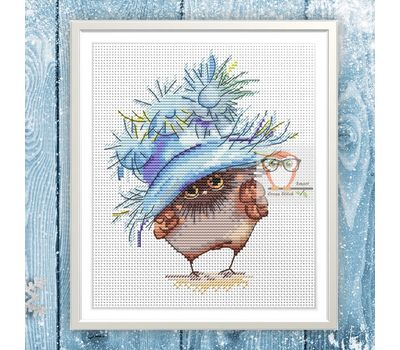 Funny cross Stitch pattern Little Owl3