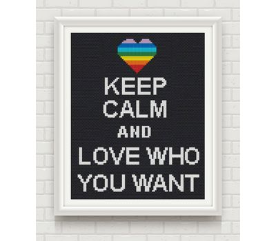 funny cross stitch pattern gay love