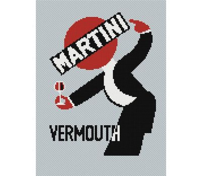 Martini cross stitch pattern