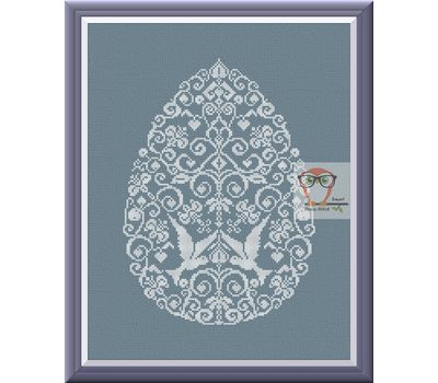 Ornament Embroidery pattern Easter lace