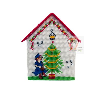 Robin Hood plastic canvas house box pattern}