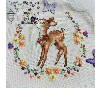 Round Whitework Little Deer