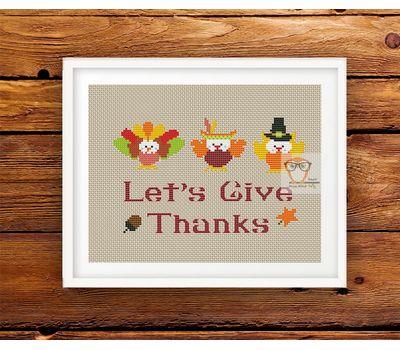 Thanksgiving cross stitch pattern pdf