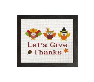 Happy Thanksgiving cross stitch pattern free