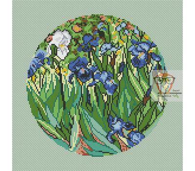 Van Gogh cross stitch chart Irises