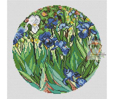 Van Gogh cross stitch pattern Irises