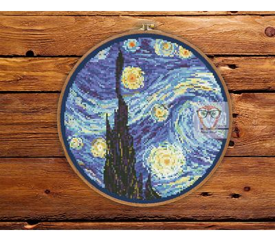 Van Gogh cross stitch chart Starry Night