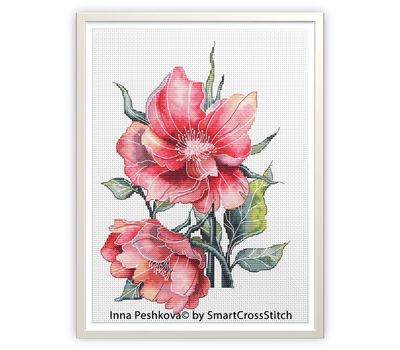 Vintage Cross Stitch pattern Wild Roses2