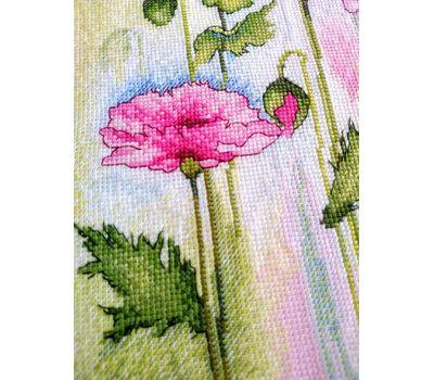 Watercolor Poppies cross stitch Chart