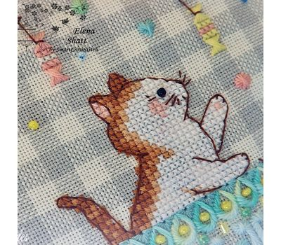 Cute kittens Whitework Embroidery pattern
