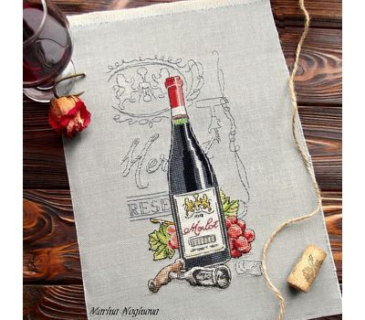 Merlot Wine cross Stitch pattern