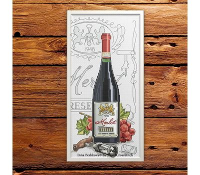 Wine cross Stitch pattern Merlot6