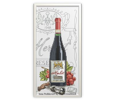 Wine cross Stitch pattern Merlot7
