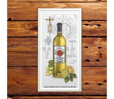 Wine Sauvignon cross Stitch chart