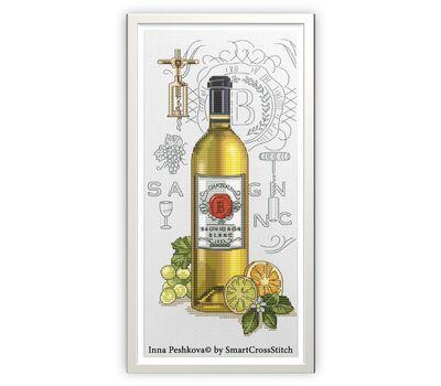 Wine cross Stitch pattern Sauvignon3