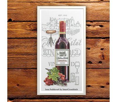Red Wine cross Stitch pattern Zinfandel