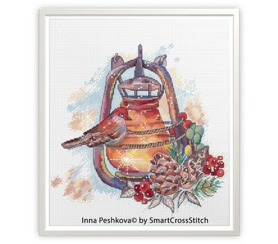 Winter Cross Stitch pattern Winter Lantern2
