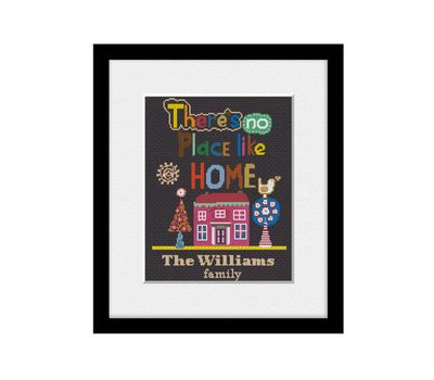 custom cross stitch home sweet home pattern download free