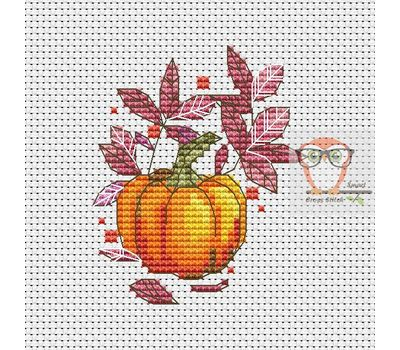 Autumn Cross stitch pattern Pumpkin}