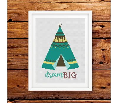dream big cross stitch pattern