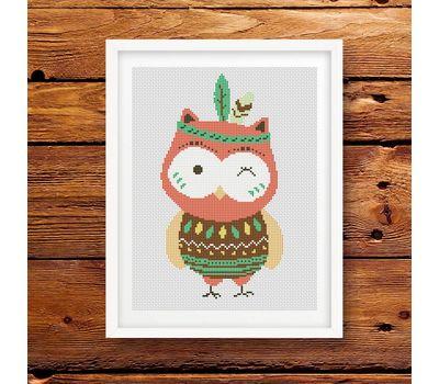 owl cross stitch pattern