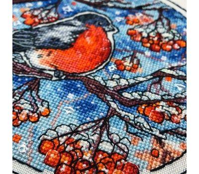 Christmas Cross stitch pattern Bullfinch}