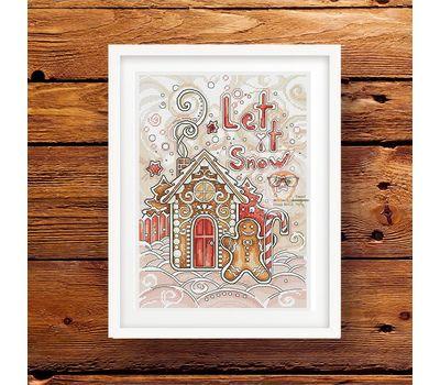 Christmas Cross stitch pattern Gingerbread House}