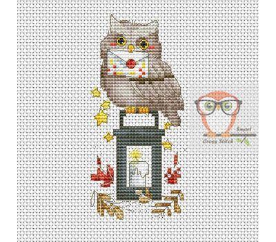 Christmas Cross stitch pattern Holiday Owl}