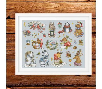 Christmas Cross stitch pattern Winter Sampler}