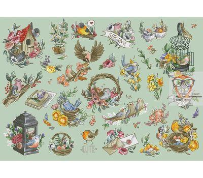 Floral Cross stitch pattern Spring Sampler}