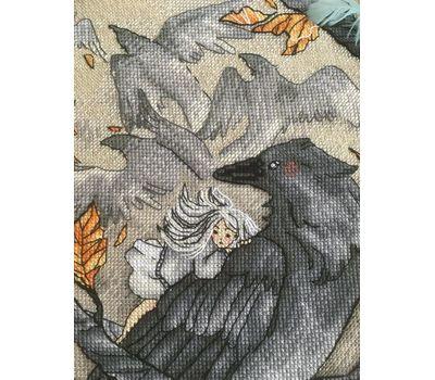 Gothic cross stitch pattern Ravens Flock}