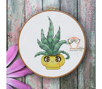 Mini Cross stitch pattern Cactus 6}