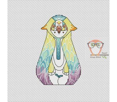 Nan - Forest Creatures Cross stitch pattern}