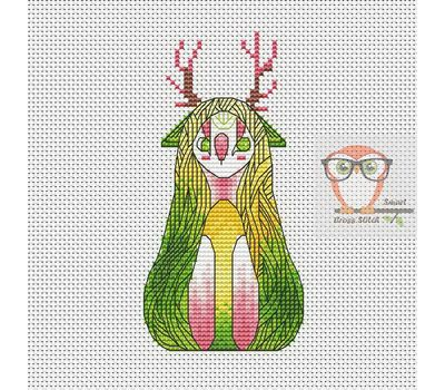 Nay - Forest Creatures Cross stitch pattern}
