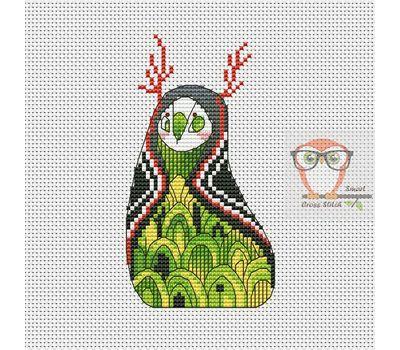 Nur - Forest Creatures Cross stitch pattern}