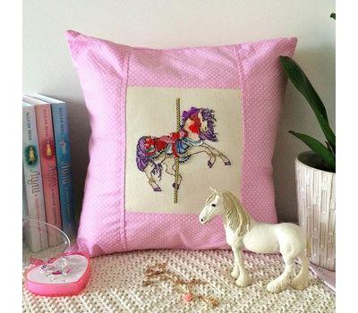 Nursery Cross stitch pattern Spring Rocking Horse}