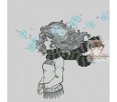 Nursery Cross stitch pattern The Star Girl}