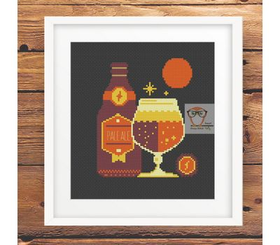 Winter Cocktais Ale Beer funny cross stitch pattern