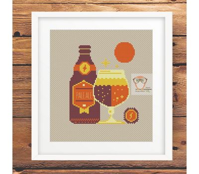 Winter Cocktais Ale Beer funny cross stitch chart