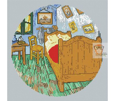 Van Gogh cross stitch chart The Bedroom