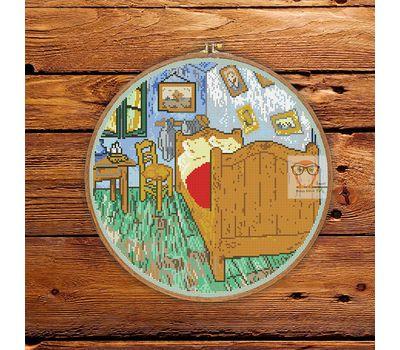 Van Gogh cross stitch pattern The Bedroom