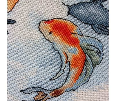 Carp Koi fish cross stitch pattern