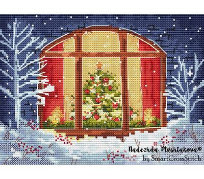 Christmas Window cross stitch chart
