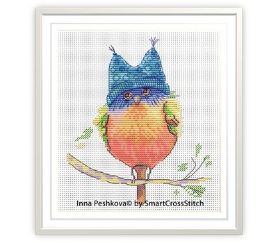 Funny cross stitch chart ''Little Bird''