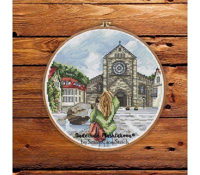 The City Of Attenberg Germany Travel  Round cross stitch pattern