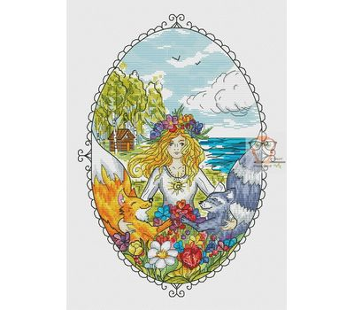 Girl Cross stitch pattern Magic Land}