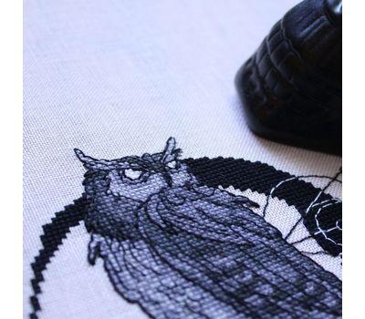 Gothic cross stitch pattern Owl with skull}