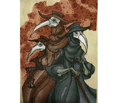 Gothic cross stitch pattern Plague Trio}