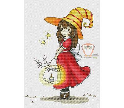 Halloween Cross stitch pattern Fireflies}