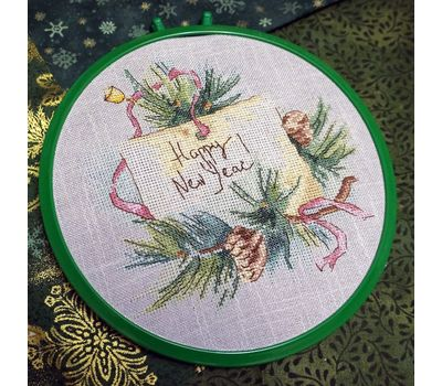 Squirrel and Bee Cross stitch pattern round hoop